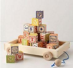 アンソロポロジー☆お洒落なアルファベットの木のおもちゃ☆彡