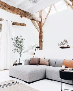 minimal neutral living room #home #style