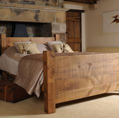 The ONLY proper type of bed is a solid wood bed.  solid wood bed by h&f | notonthehighstreet.com