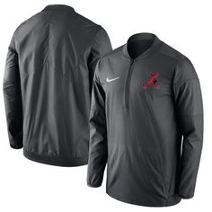 Men's Nike Anthracite Alabama Crimson Tide 2017 Coaches Sideline Lockdown Performance Half-Zip Jacket