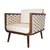 Geneve Arm Chair Harvest Brown Frame, Pearl/4900012 313