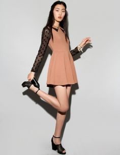 Sheer and nude but 100% adorbs.
