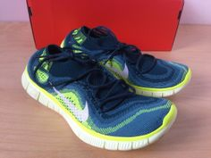 Nike Free Flyknit+ 5.0 WMNS Women's Size 7.5 Green Volt Running 615806 313 #Nike #AthleticSneakers