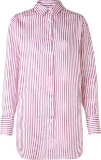 Soft stripy stripe saxa cuff skjorte fra Mads Nørgaard Copenhagen – Køb online på Magasin.dk