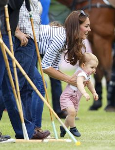 Pin for Later: Forget the Short Summer Haircut, We Envy The Duchess of Cambridge's Long Locks Prince George Can we also talk about the baby prince's gorgeous golden blonde hair? Adorable (and enviable!).