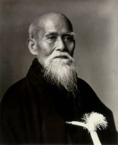 植芝盛平(Ueshiba Morihei, 1883 - 1969)  The founder of the Japanese martial art of AIKIDO.