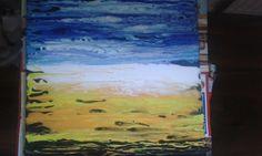 Acrylfarbe mit Wasser verdünnt