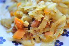 Karrykål med bacon og gulerødder, nemt sundt og billigt