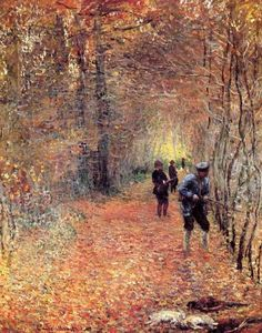 The Hunt by Claude Monet in oil on canvas, done in Now in the Musee de la Chasse et de la Nature. Find a fine art print of this Claude Monet painting. Manet, Monet Paintings, Impressionist Paintings, Landscape Paintings, Claude Monet, Renoir, Artist Monet, Beautiful Paintings, Art And Architecture