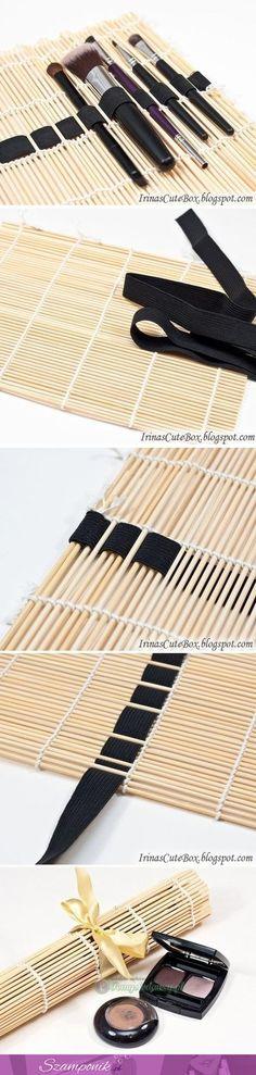 DIY holder for make up brushes