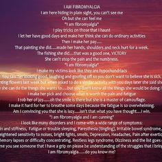 #Fibromyalgia...This is hard to read, but try to make it bigger...it really  hits home for those of us who suffer from this disease!