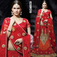 Love this vintage red lehenga with combination of bright colours and zari work from IWS New Collection!   #BridalWear #RedLehenga #LehengaCholi #HeavyEmbroidery #IndianBrides #BridalLehenga #MehendiLehenga #Reception #IndianWeddingWears #WeddingWears #Bridetobe #Bridesmaid #Fashion #Fashionista #Fashion2015 #onlineshopping