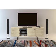 Midtown Concept Marseille Mid-Century 3-Cabinet TV Stand