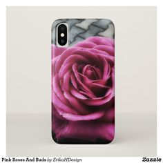 Pink Roses And Buds iPhone X Case