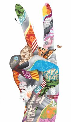 Juxtapoz Magazine - Tristan Eaton: All Mixed Up Collage Kunst, Collage Art, Pop Art, Spray Paint On Canvas, Peace Art, Freedom Fighters, Silk Painting, Painting Wallpaper, Vietnam War