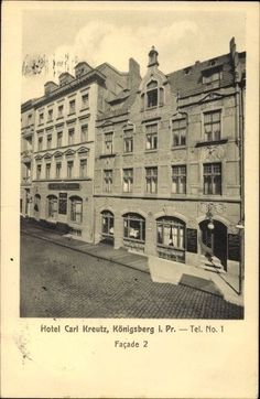 Ak Kaliningrad Königsberg Ostpreußen, Hotel Carl Kreutz,... - 10120388