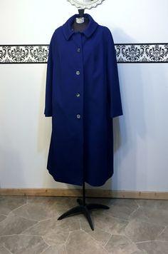 1960's Royal Blue Hipster Wool Fall Peacoat, Plus Size 22 2XL, Women's Vintage 1960's Pea Coat , 1960's Royal Blue Plus Size Pea Coat by RetrosaurusRex on Etsy
