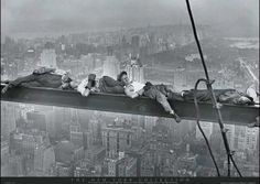 You're not I'm-not-worried-I'll-doze-off-and-have-a-nightmare-and-plunge-5-million-floors-to-my-death kind of cool       Lewis Hine
