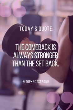 Your comeback will be stronger than anything that set you back. Learn how you can come back even stronger. Bodybuilding Motivation Quotes, Too Much Stress, Bikini Competitor, To Focus, Comebacks, Motivational Quotes, Goals, Sayings, Learning