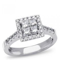 ULTIMATE dream engagement ring <3 in love love love with square diamonds!