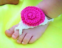 Adorno para el Pie De las Bebes al Crochet!!!