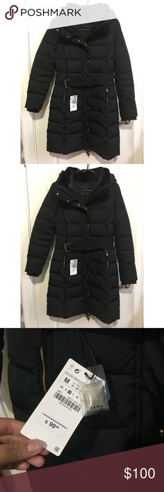 Zara down puffer coat Brand new! with tags still on the jacket. Zara down puffer coat. Never used. Item description on pictures. Zara Jackets & Coats Puffers