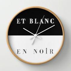 Et Blanc En Noir Wall Clock by Danny Ivan - $30.00