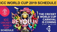Astrological Predictions for ICC Cricket World Cup over ODIs) played between 30 May - 14 July 2019 in England Icc Cricket, Cricket World Cup, West Indies, Schedule, Image, Top, Timeline, Crop Shirt, Shirts