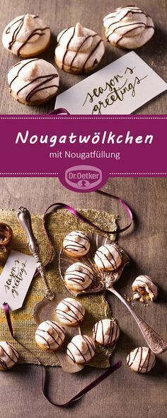 Nougat Clouds cookies Nougat Clouds: Tender protein biscuits with nougat .- Nougatwölkchen: Zartes Eiweißgebäck mit Nougatf… Clouds of nougat cookies Nougat clouds: Tender protein biscuits with nougat filling Pumpkin Spice Cupcakes, Mini Cupcakes, Oreo, Cookies Healthy, Cookie Recipes, Snack Recipes, Dessert Halloween, Bon Dessert, Recipes