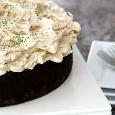Guiness Chocolate Cake with Bailey's Buttercream. A cake that will leave you smiling ear to ear.