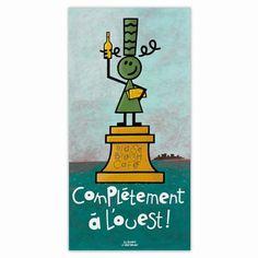 Statue of À l'aise breizh! Complètement à l'ouest ! |  Finistère | Bretagne | #myfinistere