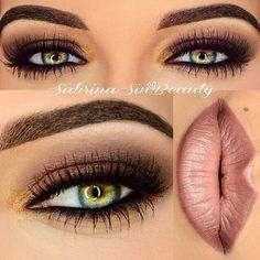 gorgeous colours used together and I love how defined the brows are!