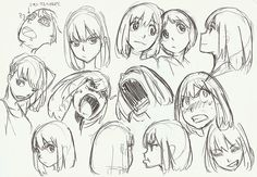 Drawing Cartoon Faces Facial Expressions Character Design 20 New Ideas Drawing Cartoon Faces, Manga Drawing, Drawing Sketches, Drawing Expressions, Facial Expressions, Art Reference Poses, Anime Sketch, Animation, Character Design References
