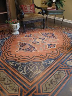 Looks like a rug but is stencil!                              …