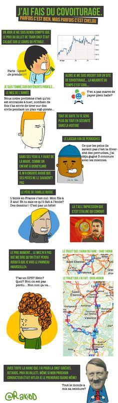 Infographie humoristique : j'ai fais du covoiturage