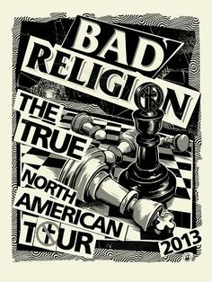 Bad Religion True North American Tour 2013 Event Poster art by Mark5