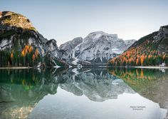 "Braies Lake Reflections - follow me on facebook <a href=""https://www.facebook.com/carmassi.marco""> Facebook</a>"