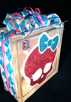 Monster High Lighted Glass Block Glass Block Light By GhoulsRule, $59.99