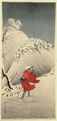 Shotei - Winter Scene  - 1936.