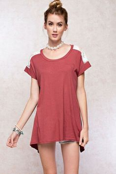 Coming Up Roses Top in Marsala