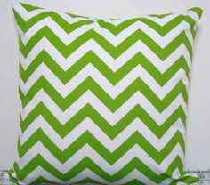 Lime green chevron pillow cover. Love it!
