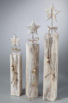 Deko-Sterne aus Holz, 3er-Set - Produktdetailbild 1