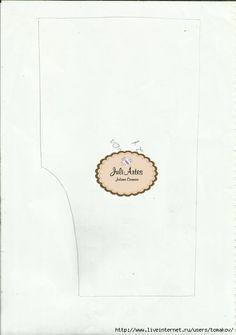 FOTO 3 MOLDE GATO - Eu Amo Artesanato: Porta papel higiênico de boneca com molde