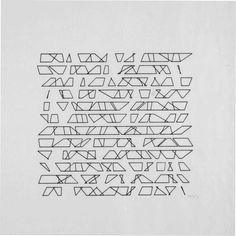 Vera Molnar 144 Trapèzes Trapeziums) 1974 computer graphic, open series, 16 variations, all sole copies print: each +/- 20 x 25 cm Calligraphy Cards, Architecture Quotes, Computer Art, Generative Art, Realistic Drawings, Art Pictures, Art Pics, Animal Tattoos, Book Photography