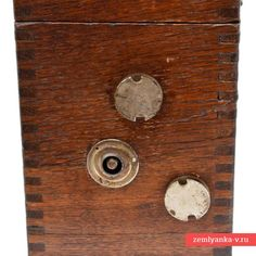 """A field telephone with the inductor call the company """"L. Erikson and"""" (Russian Empire) buy in military antiques Zemlyanka Galvanic Cell, Telephone Line, Buzzer, Wooden Case, Empire, Old Things, Military, The Unit, Antiques"""