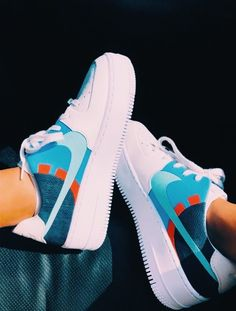 Sneakers Fashion, Fashion Shoes, Shoes Sneakers, Nike Shoes Air Force, Aesthetic Shoes, Hype Shoes, Fresh Shoes, Swag Outfits, Custom Shoes