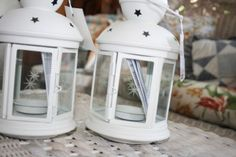 ikea white lanterns