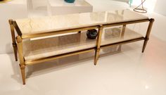 a *perfect* narrow coffee table in high glamour at aquarius (lexington). so ideal for narrow living rooms! #hpmkt