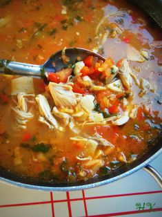 Chicken Tortilla Soup. Hispanic Kitchen