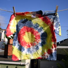 Bull's Eye Tie Dye Folding Tutorial | Wendolonia